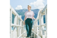 hysteriko - Top Clothilde rose, Pantalon Georgia vert